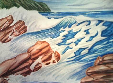 Wave Break by Lynwood Pollard