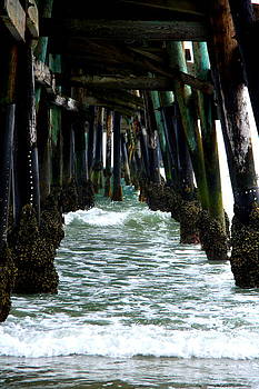 Waves Under the Pier by C Nakamura
