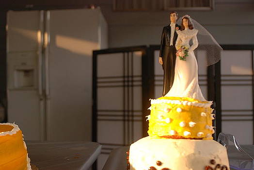 Wedding Cake Topper by Cynthia Jones