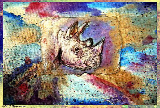 Wildlfe Art Rhino by M C Sturman