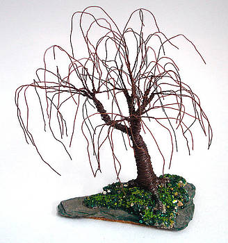 Willow on Slate - Wire Tree by Sal Villano