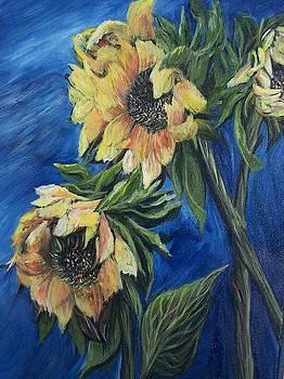 Wilting Sunflowers by Anna Gitchel