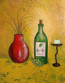 Wine and Candle by Patsi Stafford