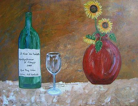 Wine and Vase by Patsi Stafford