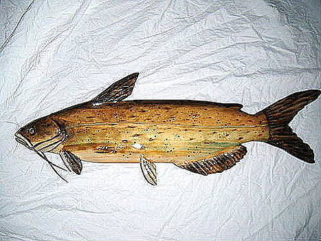 Wooden Channel Catfish number one by Lisa Ruggiero