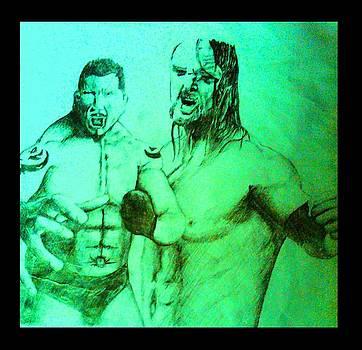 Wrestlers by Millijones