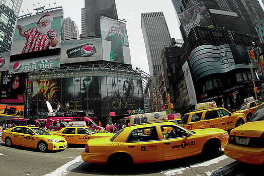 Yellow Cabs by Peter Verdnik