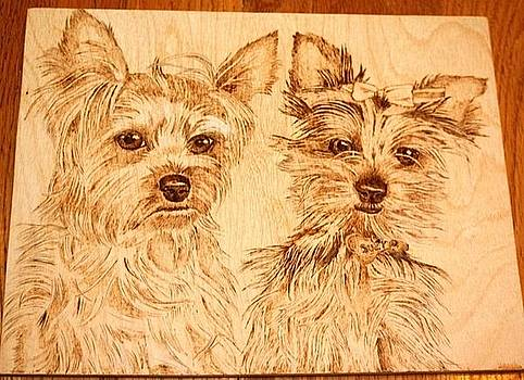 Yorkie Pair by Angel Abbs-Portice