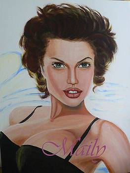 Young Angilina Jolie by Maily