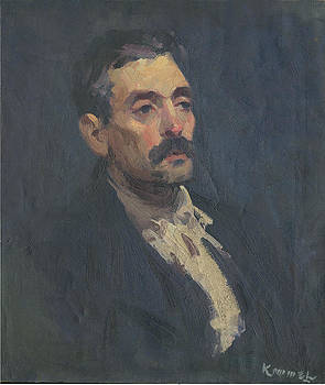 Young Man With Mustache by Lu Kimmel