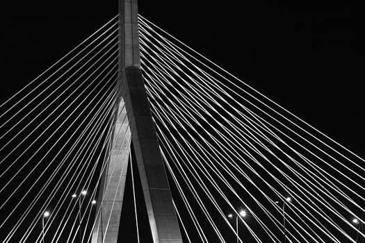 Zakim Bridge Boston by Peggie Strachan