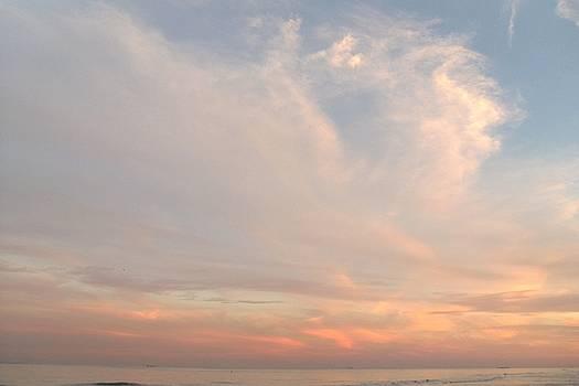 Gentle Ocean Sunset by Trudy Brodkin Storace