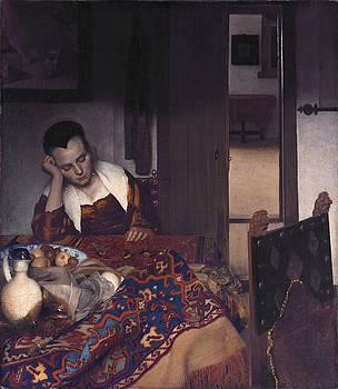 Johannes Vermeer -  A Girl Asleep