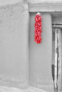 Adobe Hacienda Ristra by Barbara Milton