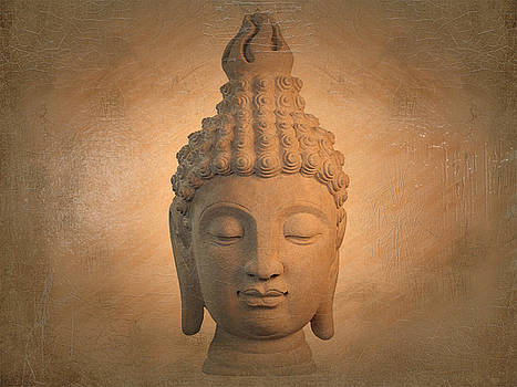 antique oil effect Buddha Sukhothai , by Terrell Kaucher