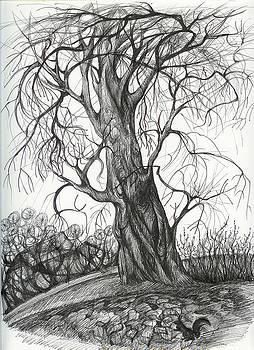 Anna  Duyunova -  Autumn Dancing Tree