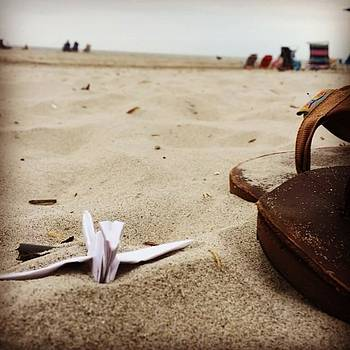 🏊 #beach #1000cranes #origamicrane by Anna Harland