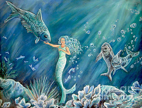 Blue Mermaid by Stephanie Skeem