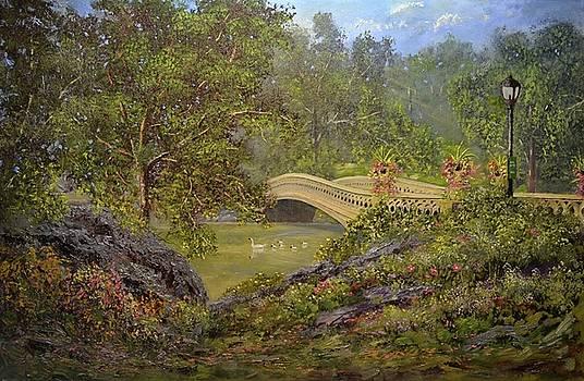 Bow Bridge Central Park by Michael Mrozik