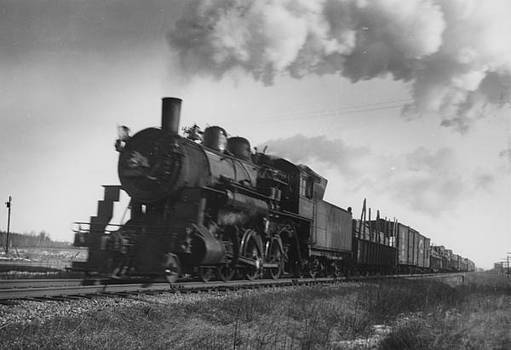 Chicago and North Western Historical Society - Locomotive Lets off Steam