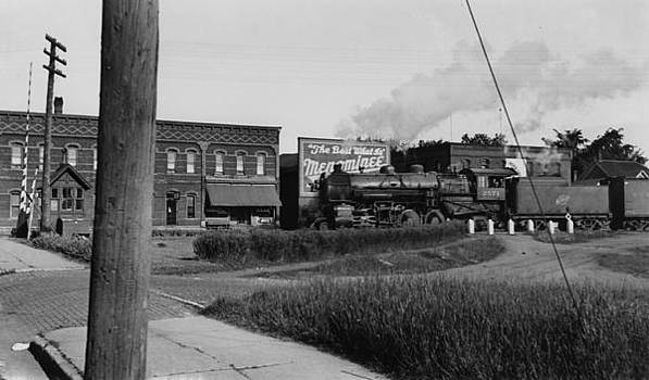 Chicago and North Western Historical Society - Railway Engine 2565 at Menominee Wisconsin - 1936