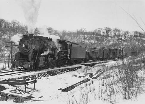 Chicago and North Western Historical Society -  Chicago And North Western Railway Engine at Kickapoo Junction - 1927