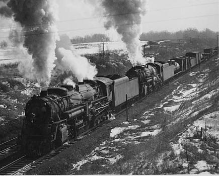 Chicago and North Western Historical Society -  Chicago And North Western Railway Engine Near Radnor Illinois - 1940