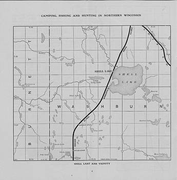 Chicago and North Western Historical Society - Omaha Road Rail Map of Northern Wisconsin - Washburn and Shell Lake