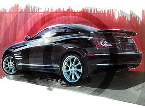 Chrysler Crossfire SRT6 with Custom Wheels by Elizabeth Joseph