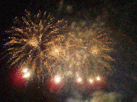 Fire Works Show Stippled Paint Finally  Canada by Dawn Hay
