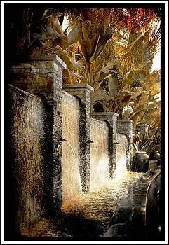 Flowing Waterfall  by Athala Carole Bruckner