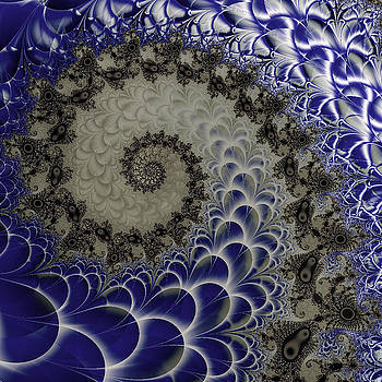 Fractal Spiral Poster by David Smith