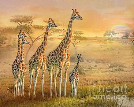 Giraffe Family by Trudi Simmonds