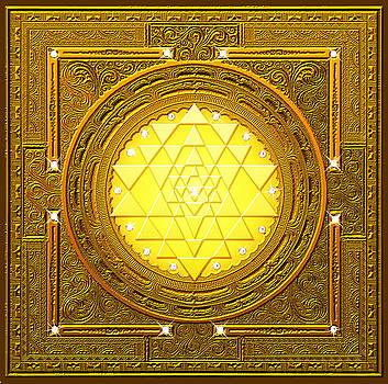 Golden Sri Yantra by Lila Shravani
