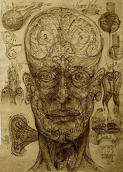 Human vortex face by Gabriel Kelemen