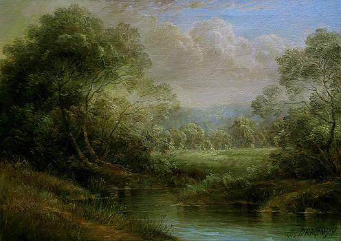 Hungarian landscape by Arthur Braginsky