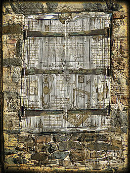In the News vintage hay barn door by Heinz G Mielke