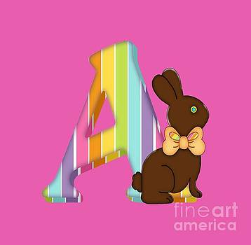 Debra Miller -  Letter A Chocolate Easter Bunny