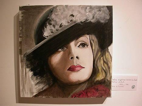 Marlene Dietrich by Maria  Da Assuncao Lima