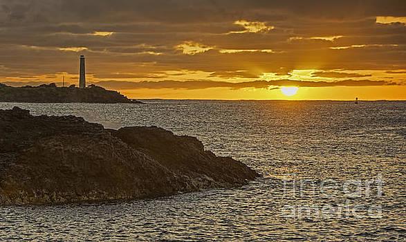 Ninini Point Lighthouse Sunrise by Gary Beeler