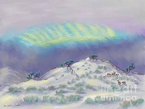 Peaceful Snowy Sunrise by Dawn Senior-Trask