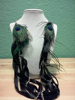 Peacock Feather Necklace by Kendell Tubbs