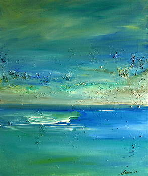 Pearls of Tranquility Seascape 1 by Dolores  Deal