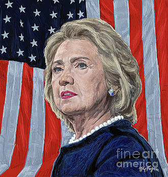 Presidential Candidate Hillary Rodham Clinton by Neil Feigeles