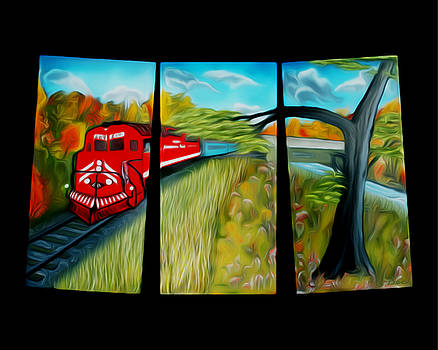 Claude Beaulac -  Red Train Passage Dreamy Mirage