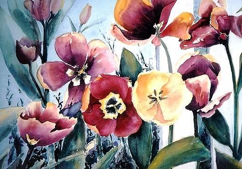 Red Tulips by Maryann Schigur