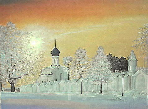 Russian Winter Sunset 2010 by Marko Lulic