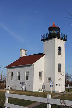 Sand Point Lighthouse Escanaba by Charles Morrison