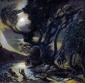 Albert Pinkham Ryder -  Siegfried and the Rhine Maidens
