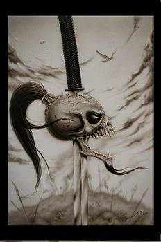Skull and sword by Terry Stephens